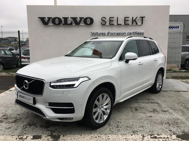 Volvo XC90 D5 AWD 235ch Momentum Geartronic 7 places Diesel BLANC Occasion à vendre